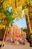 CHIANGMAI, THAÏLANDE 14 AVRIL : Le festival de Songkran est I célébré Image stock
