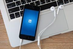 CHIANGMAI, THAÏLANDE - 17 FÉVRIER 2015 : Linkedin est un netw social Images libres de droits