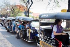 CHIANGMAI, THAÏLANDE - 8 MAI 2016 : Chiangmai de taxi de TUKTUK, service Photo stock