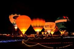 CHIANGMAI THAÏLANDE 26 NOVEMBRE : Ballon international F de la Thaïlande Images libres de droits