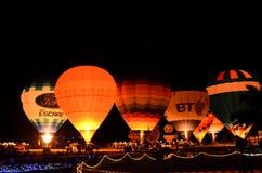 CHIANGMAI THAÏLANDE 26 NOVEMBRE : Ballon international F de la Thaïlande Photos libres de droits