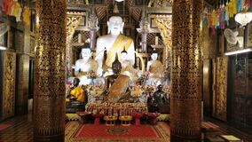 Chiangmai, Thailand – May  12 ,2020  The Buddha statue in wat inthakhin temple at chiang mai ,Thailand