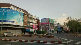 Chiangmai, Thailand – May 4 ,2020 The traffic in Chiang Mai town during the Covid-19