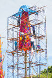 CHIANGMAI-THAILAND; 9月05,2014;加入博克节日的许多人民 库存图片