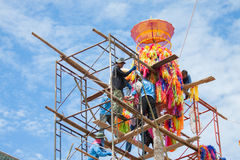 CHIANGMAI-THAILAND; 9月05,2014;加入宗教仪式节日的许多人民 库存照片