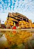 CHIANGMAI THAILAND-APRIL 13, 2008: Den Songkran festivalen är celebr Arkivfoto