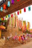 CHIANGMAI THAILAND-APRIL 14: Den Songkran festivalen är firat I Fotografering för Bildbyråer
