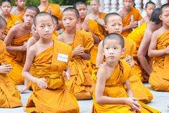 CHIANGMAI THAILAND-APRIL 15: Den Songkran festivalen är firat I Arkivfoto
