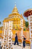CHIANGMAI THAILAND-APRIL 15: Den Songkran festivalen är firat I Royaltyfri Foto