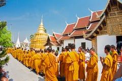 CHIANGMAI THAILAND-APRIL 15: Den Songkran festivalen är firat I Fotografering för Bildbyråer