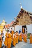 CHIANGMAI, THAILAND-APRIL 15 : Songkran Festival is celebrated i Royalty Free Stock Photos