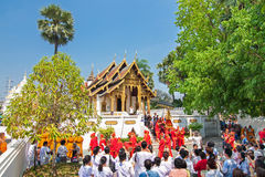 CHIANGMAI, THAILAND-APRIL 15 : Songkran Festival is celebrated i Stock Photography