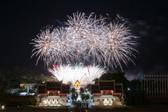CHIANGMAI, THAILAND-August  12 : Firework Queen Sirikit Ceremony Royalty Free Stock Image