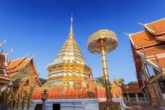 Chiangmai Thailand. Doi Suthep temple at chiangmai, thailand stock images