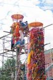 CHIANGMAI-THAILAND; En septiembre 05,2014; Mucha gente para unirse a festival de la ceremonia religiosa Foto de archivo libre de regalías