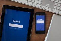 Chiangmai Thailand - Februari 10, 2015: Facebook den största socen arkivfoto