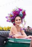 CHIANGMAI THAILAND - FEBRUARI 3: Maria Poonlertlarp fröcken Universe Thailand 2017 i ettåriga växten 42. Chiang Mai Flower Festiv Arkivfoto