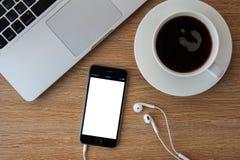 CHIANGMAI, THAILAND - FEBRUARI 5, 2015: Nieuwe iPhone 6 is een smartp Royalty-vrije Stock Afbeeldingen