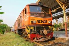 Alsthom locomotive no.4226. CHIANGMAI, THAILAND-  FEBRUARY 27 2013: Alsthom locomotive no.4226 at chiangmai railway station, thailand Royalty Free Stock Photo
