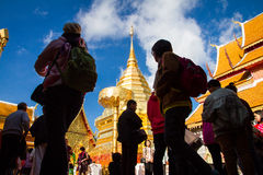 Chiangmai,Thailand - January 17, 2016 - Wat Phra That Doi Suthep,Popular historical temple.The temple founded in 1385 is a major t Royalty Free Stock Images