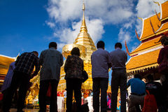 Chiangmai,Thailand - January 17, 2016 - Wat Phra That Doi Suthep,Popular historical temple.The temple founded in 1385 is a major t Royalty Free Stock Photography