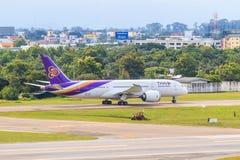 CHIANGMAI, THAILAND - 26. Juli 2014: HS-TAN Airbus A300-600R von Thai Airways Lizenzfreie Stockbilder