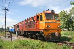 Alsthom Diesel locomotive no.4150. CHIANGMAI, THAILAND - JULY 21 2010: Alsthom Diesel locomotive no.4150 For train no.2 from chiangmai to bangkok. Photo at Royalty Free Stock Photo