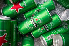 CHIANGMAI, THAILAND - JULY 2, 2016 : Cans of Heineken Beer Stock Photo