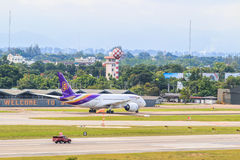CHIANGMAI, THAILAND - July 26, 2014: HS-TAN Airbus A300-600R of Thai Airways Royalty Free Stock Images