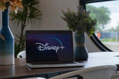CHIANGMAI, THAILAND - JULY 17,2019 : Macbook with Disney plus on screen. Disney+ is an online video streaming subscription service