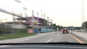 Time lapse soft blur of chiangmai highway road