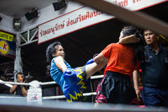 CHIANGMAI, THAILAND - JULY 30: Unidentified Muay Thai fighters c Stock Photo