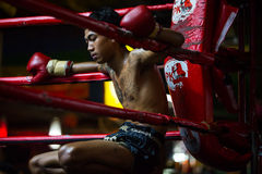 CHIANGMAI, THAILAND - JULY 30: Unidentified Muay Thai fighters c Stock Photos