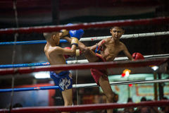 CHIANGMAI THAILAND- JULY 30 : Unidentified players in Muaythai Stock Photo