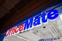 Chiangmai, Thailand - Juni 16, 2017: Het teken van de OfficeMatewinkel, dit Royalty-vrije Stock Foto's