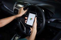 CHIANGMAI, THAILAND - 22. MÄRZ 2014: Google Maps ist ein Netz mappin Lizenzfreies Stockbild