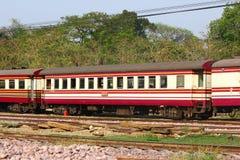 Passenger Car For Train no.52. CHIANGMAI , THAILAND- MARCH 5 2014: Passenger Car For Train no.52 to Bangkok from Chiangmai. Photo at Chiangmai railway station Stock Photography