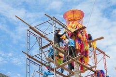 CHIANGMAI-THAILAND; Na SEP 05,2014; Wiele ludzie łączyć obrządu religijna festiwal Zdjęcie Stock