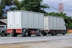 CHIANGMAI, THAILAND - 6. OKTOBER 2014: Müllwagen des Nongjom-Subdistrict-Verwaltungsapparats Foto an der Straße kein aboutC 121 Stockbild