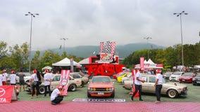 CHIANGMAI-THAILAND; på SEPTEMBER 20-21, 2014, TOYOTA Arkivbilder