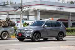 Private Car. Bmw X5. Chiangmai, Thailand - September 25 2018: Private Car. New Bmw X5. Photo at road no.1001 about 8 km from downtown Chiangmai, thailand royalty free stock photo