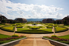 chiangrai的庭院,在泰国北部 免版税库存照片