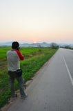 Chiangrai的泰国画象摄影师 免版税库存照片
