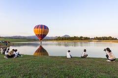CHIANGRAI,泰国- 2015年11月29日:热空气气球农厂festiva 免版税库存照片
