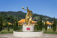 CHIANGRAI ΤΑΪΛΑΝΔΗ - 22 ΟΚΤΩΒΡΊΟΥ 2012: Επιθυμία της λίμνης στο αναμνηστικό μουσείο αιθουσών του μάρτυρα στη Mae Salong, Mae FA L Στοκ Εικόνες