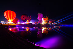 CHIANGRAI, THAILAND - 13. Februar: Internationale Ballon-Fiesta 2016, am 13. Februar 2016 in Singha-Park, CHIANGRAI, THAILAND Lizenzfreies Stockfoto