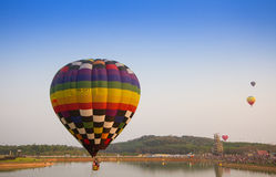CHIANGRAI, THAILAND - 13. Februar: Internationale Ballon-Fiesta 2016, am 13. Februar 2016 in Singha-Park, CHIANGRAI, THAILAND Stockbild
