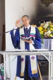 CHIANGRAI, THAILAND - FEBRUARI 24: niet geïdentificeerde Aziatische Christen Stock Fotografie