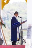 CHIANGRAI THAILAND - FEBRUARI 24: oidentifierad asiatisk kristen royaltyfri bild
