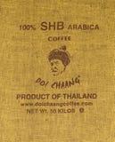 CHIANGRAI THAILAND - JULI 20: Märkeskaffe Royaltyfria Foton